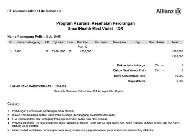 Askes Premi 1.9 Jt Allianz