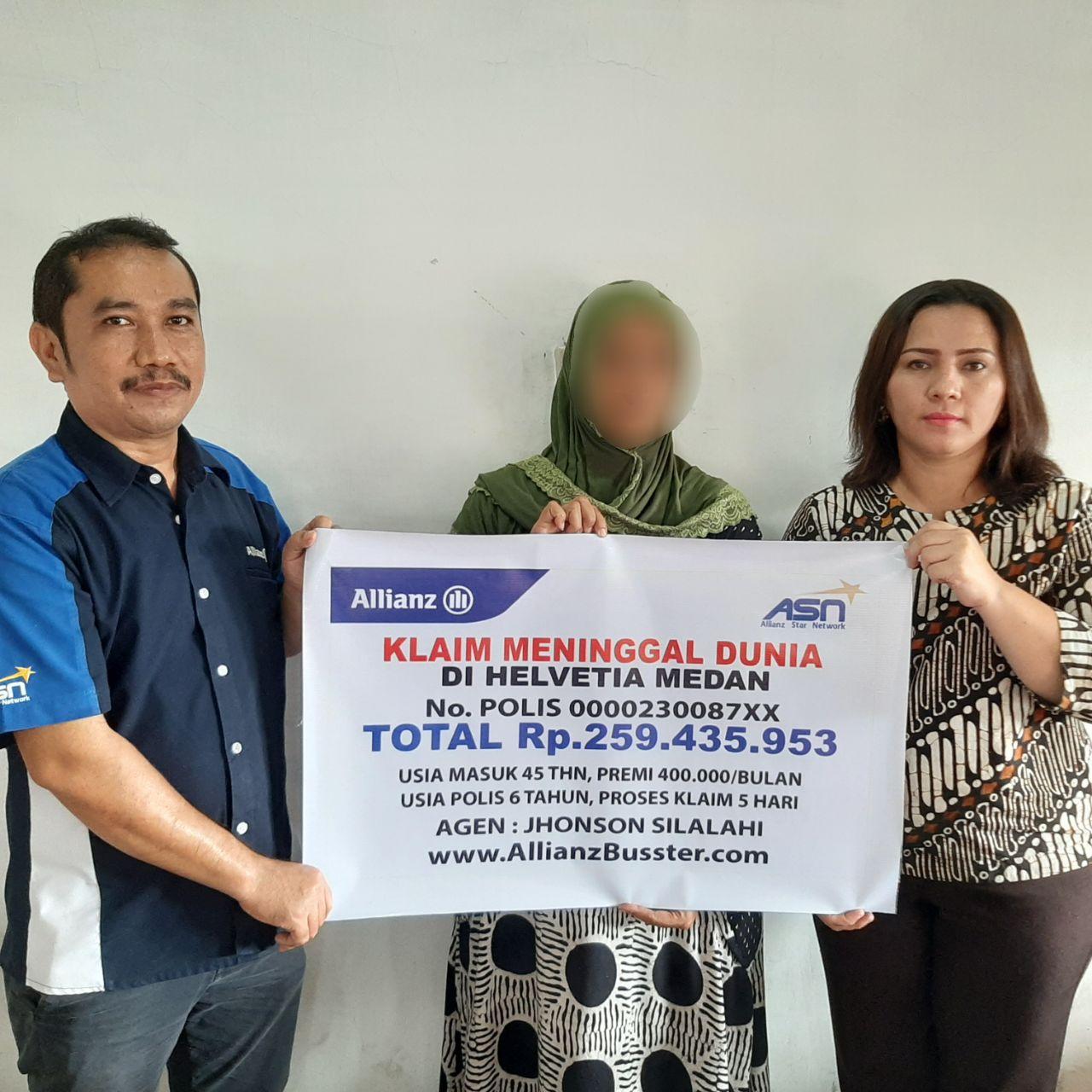 Pembayaran Claim Asuransi Jiwa di Helvetia Kota Medan